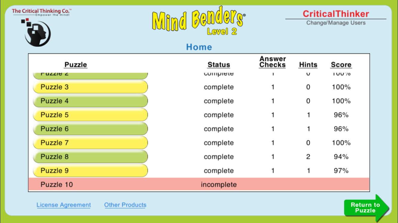 Mind Benders® Level 2- screenshot