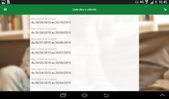 Screenshot of Mes Comptes