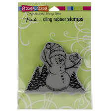 Stampendous Cling Stamp - Snowman Perch
