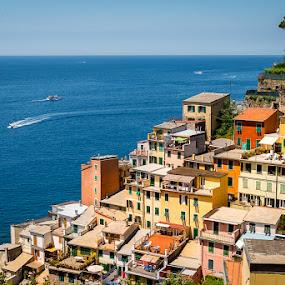 Riomaggiore slice  by Carlos Kiroga - Landscapes Travel ( water, urban, urban exploration, nature, color, mediterranean, buildings, sea, ocean, travel, boat, ocean view, people, italy )