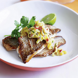 Fish with Green Mango Relish