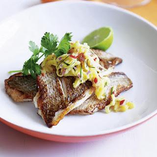 Fish with Green Mango Relish.