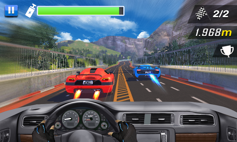 Racing In Car- screenshot