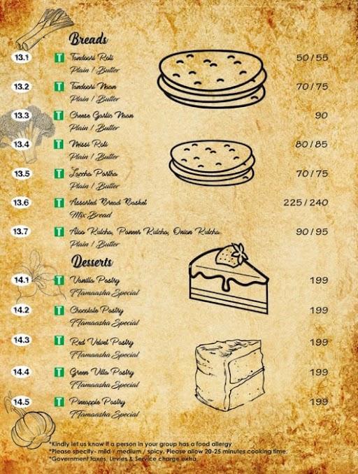 Ttamaasha Bistro Bar menu 2