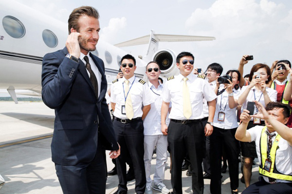 David Beckham and his fellow aviation Breitling lovers.