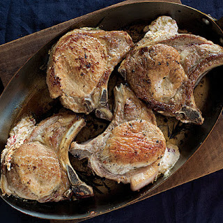 Ricotta-Stuffed Pork Chops.