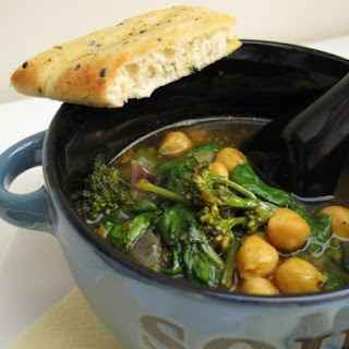 Curried Chickpea and Broccoli Soup.