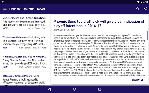 Phoenix Basketball News for PC