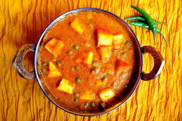 Mattar Paneer (peas & Cheese) Recipe