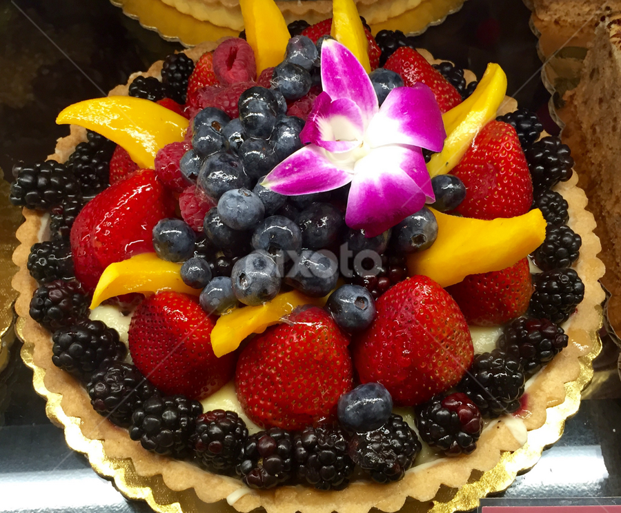 Strawberries, Berries and Mango Tart by Lope Piamonte Jr - Food & Drink Candy & Dessert