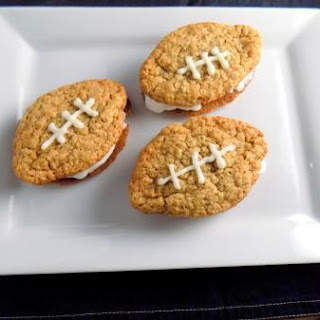 Football Oatmeal Ice Cream Sandwiches