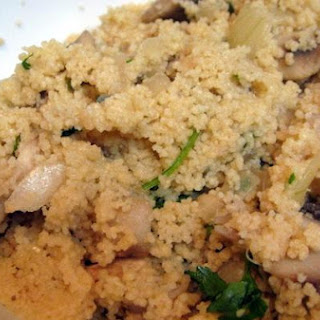 Mushroom and Onion Couscous.
