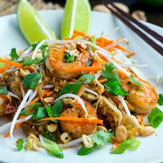 Spaghetti Squash Shrimp Pad Thai.