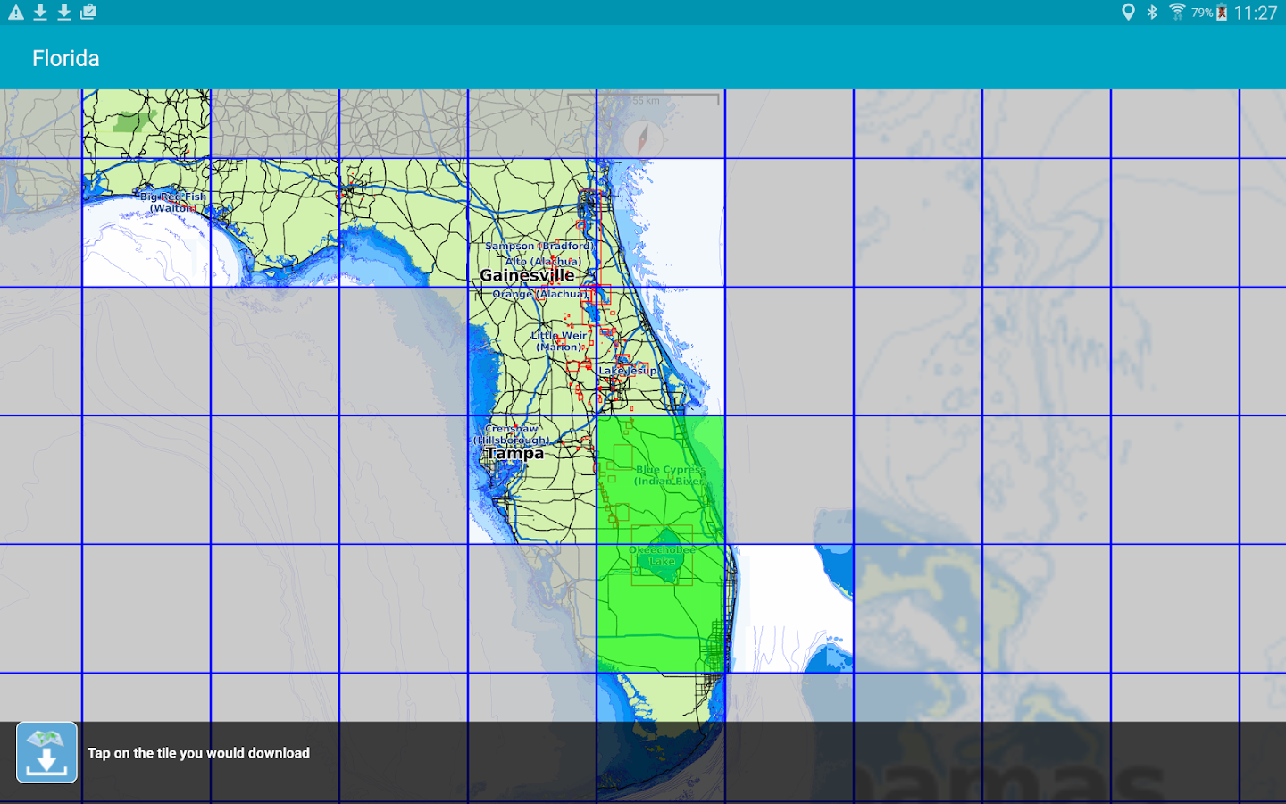 download florida map for gps