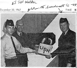 Photo: On the right, LT. J.W. Walker C-45 Pilot