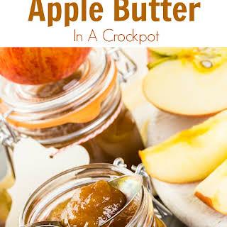Homemade Crockpot Apple Butter.