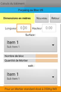 Calculs du b timent applications android sur google play - Calcul quantite peinture ...