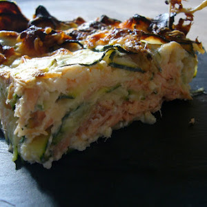 Zucchini Gratin with Salmon