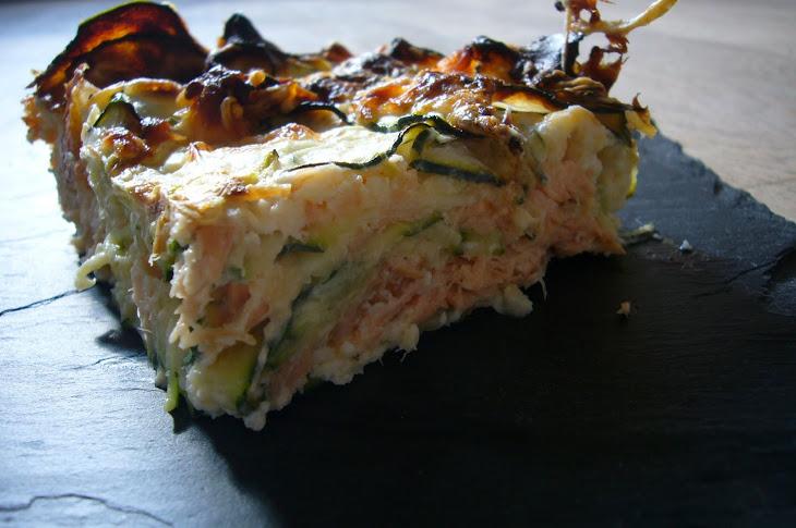 Zucchini Gratin with Salmon Recipe