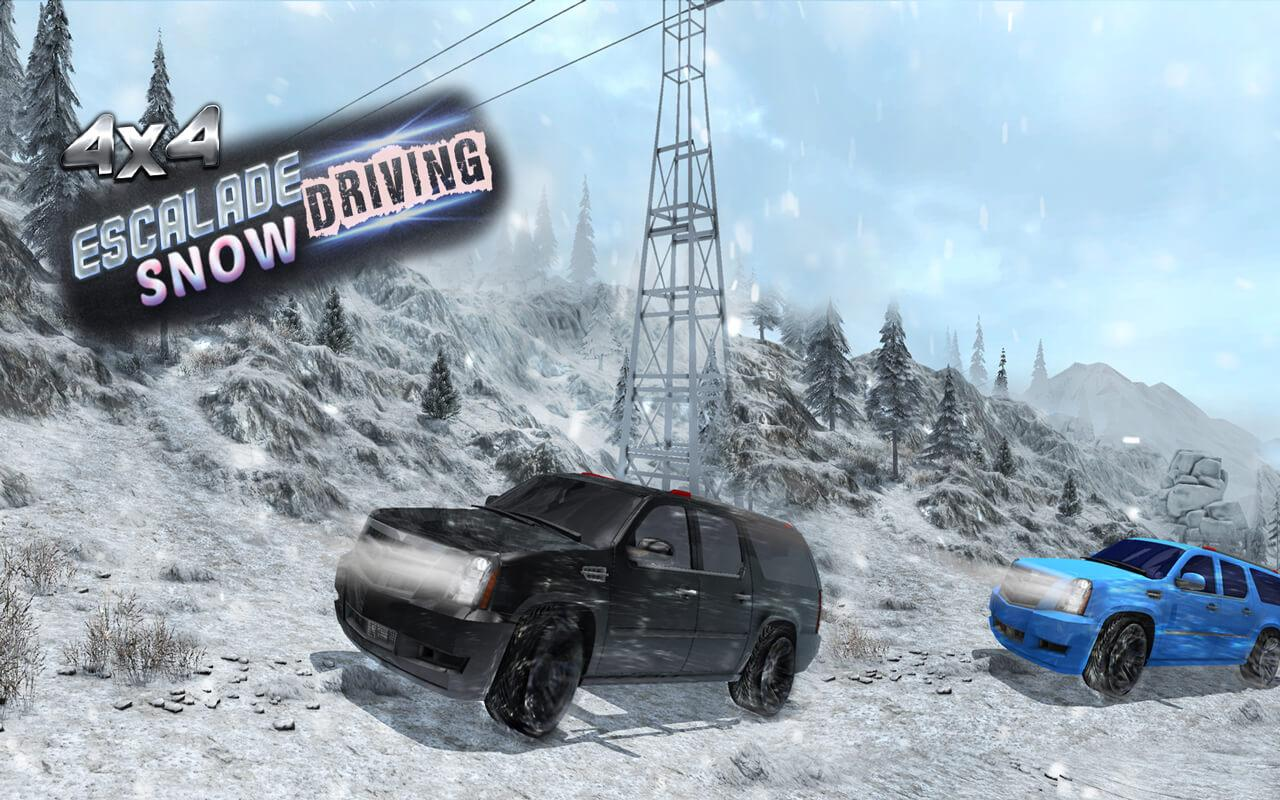 4x4 Escalade Snow Driving 3D- screenshot
