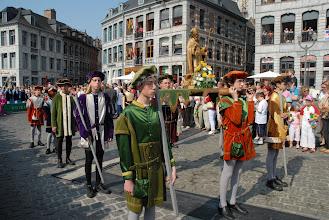 Photo: Evocation de la confrérie de saint Eloi, patron des orfèvres, qui firent la réputation de Mons dès le XIVe siècle.