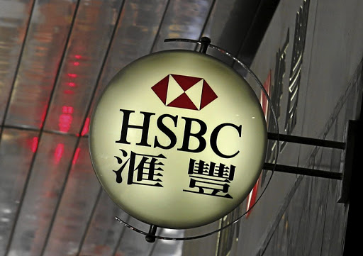 HSBC's logo is displayed outside a branch in Hong Kong. Picture: REUTERS