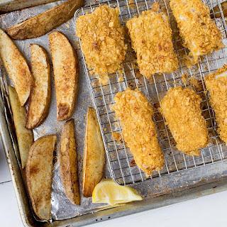 Sheet Pan Fish and Chips.