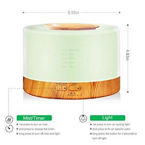 Difuzor aromaterapie cu uleiuri esentiale, rezervor 400 ml