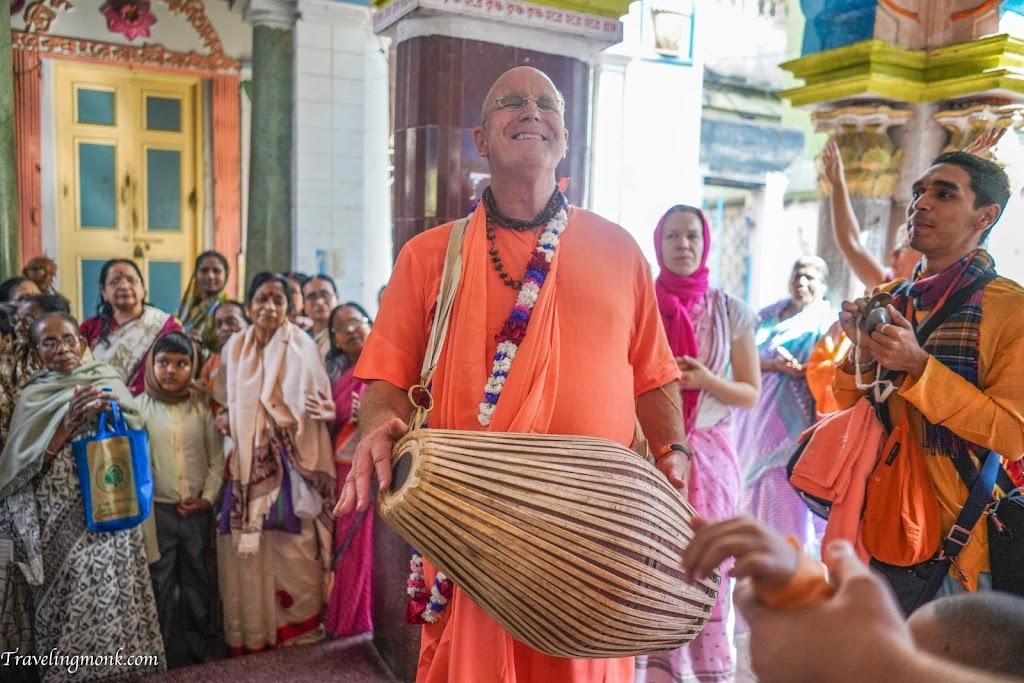 Indradyumna Swami at Katwa, West Bengal, India