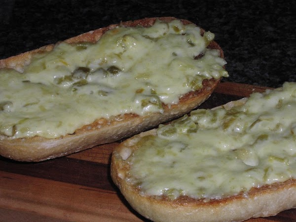 Green Chile Cheese Toast Recipe
