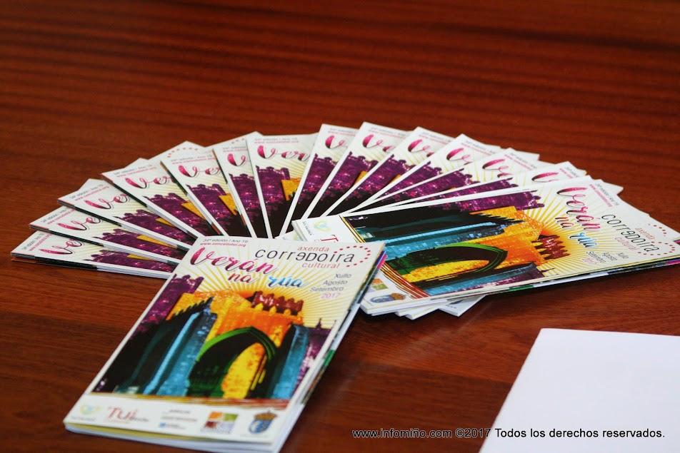 A Axenda Cultural Corredoira, con 15000 exemplares impresos, recolle todos os eventos na cidade de Tui ata final de ano