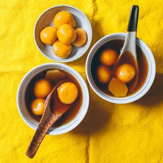 Sweet Potato Dumplings in Ginger & Jasmine Syrup (Tang Yuan).