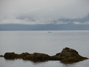 Photo: A small iceberg floats past in Stephens Passage.