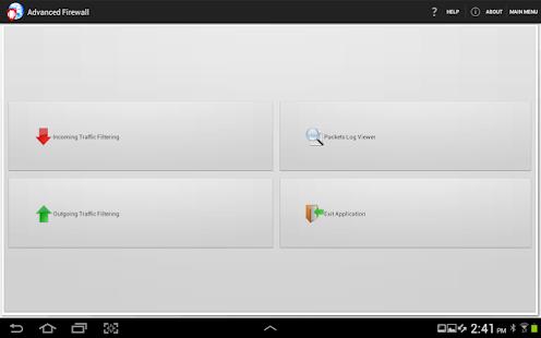 Advanced Firewall screenshot