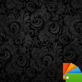 Black Floral Xperien Theme