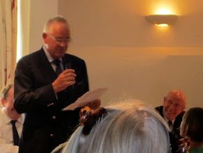 Photo: Our new Commodore Ron Hastie taking over from Chris Welland