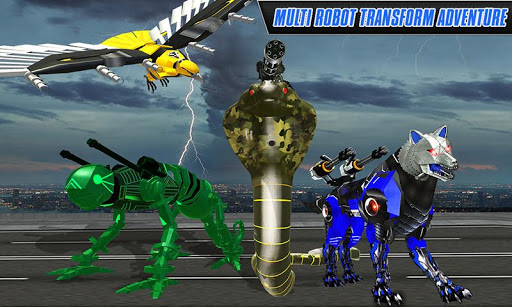 Multi Robot Transform Wolf, Snake, Falcon & Lizard 1.1 screenshots 5