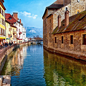 Annecy - the old city by Radu Eftimie - City,  Street & Park  Historic Districts ( annecy, france,  )