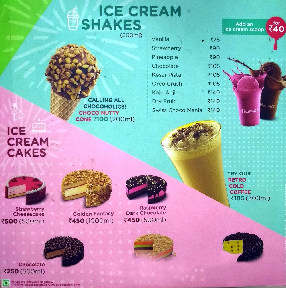 Havmor Ice Cream menu 3