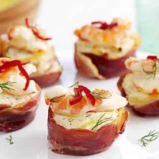 Shrimp and Ricotta Tarts.