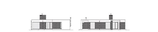 Parterowy 2 - Elewacja tylna i boczna