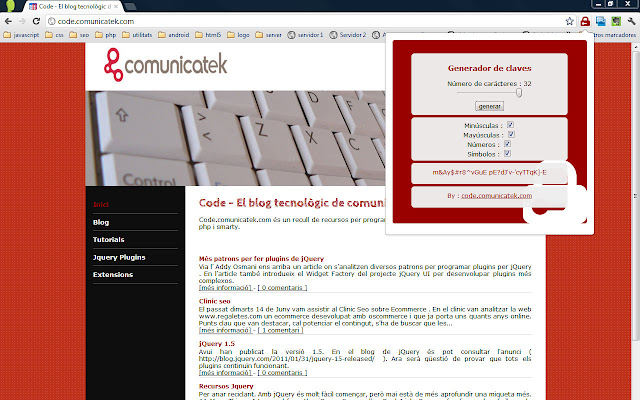 TekPassword (ext) a password generator