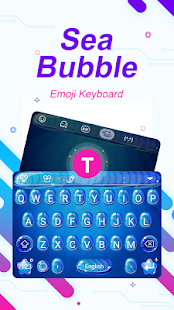 Sea Bubble Theme&Emoji Keyboard - náhled