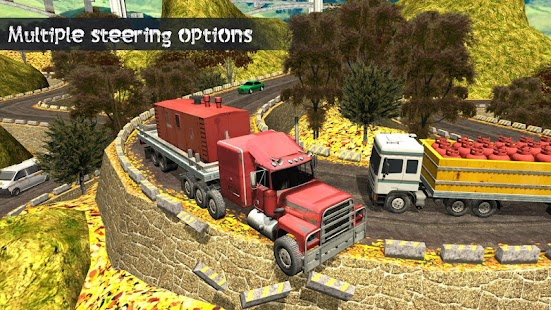 Truck Driving Uphill - Loader and Dump - náhled