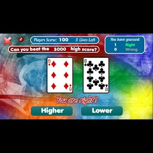 The Higher or Lower Card Game- screenshot thumbnail