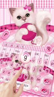Lovely Pink Kitty Keyboard Theme - náhled