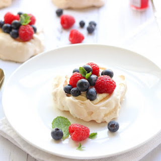 Mini Pavlovas With Mascarpone And Fresh Berries.