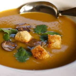 Roasted Pumpkin Chestnut Soup