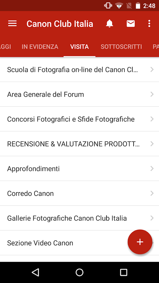 Canon Club Italia- screenshot