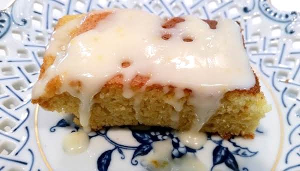 ~ Orange Butter Pound Cake Bars & Orange Glaze ~